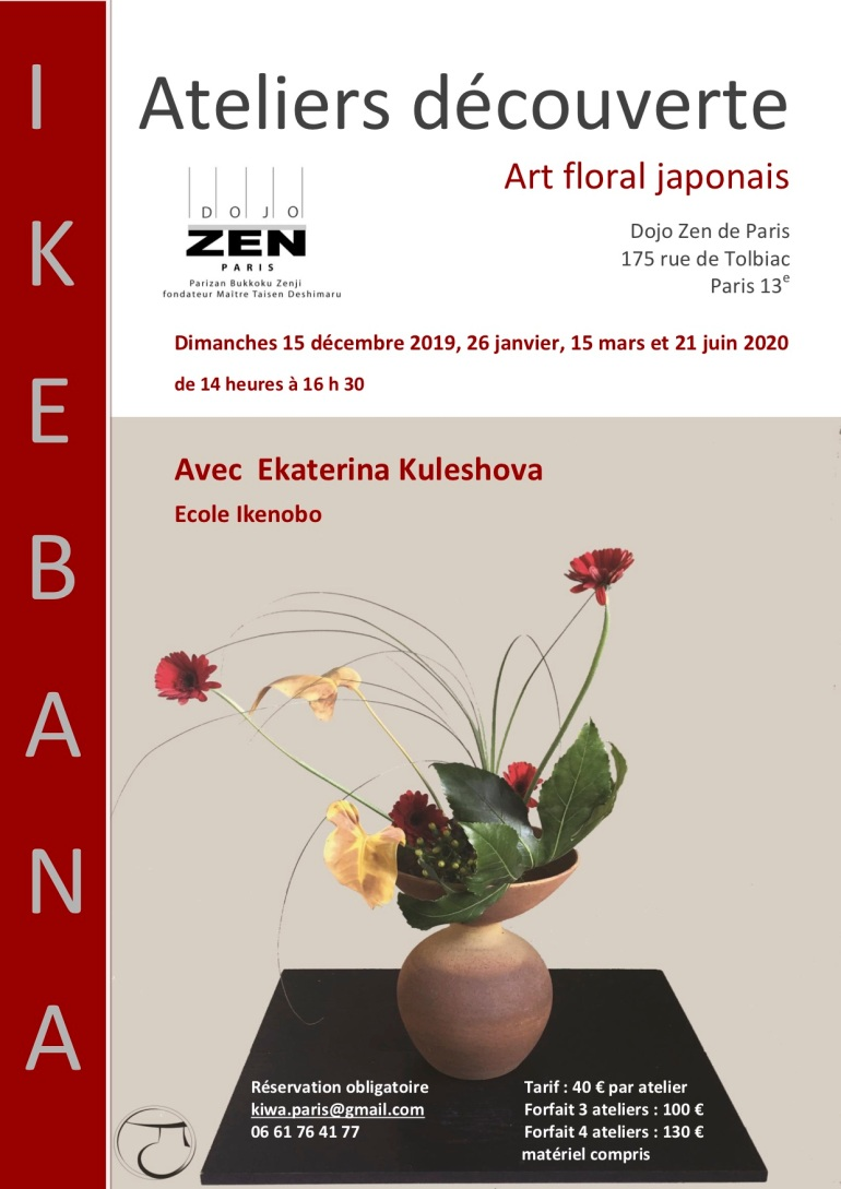 2019 2020 Affiche atelier ikebana